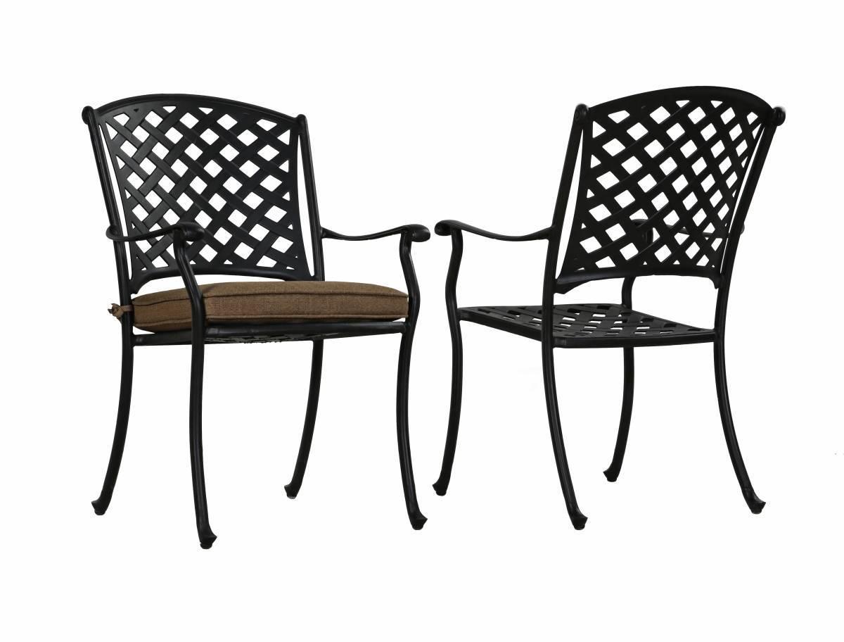 стул с подлокотниками Bombay из литого алюминия купить в