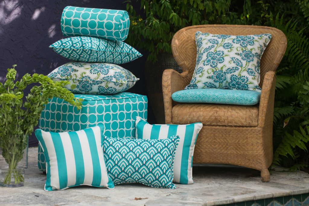 Как сшить подушки для садовой мебели