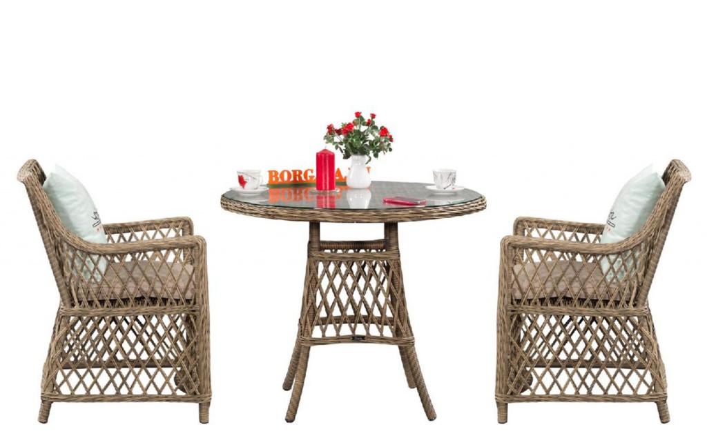 комплект мебели из искусственного ротанга для веранды, кафе