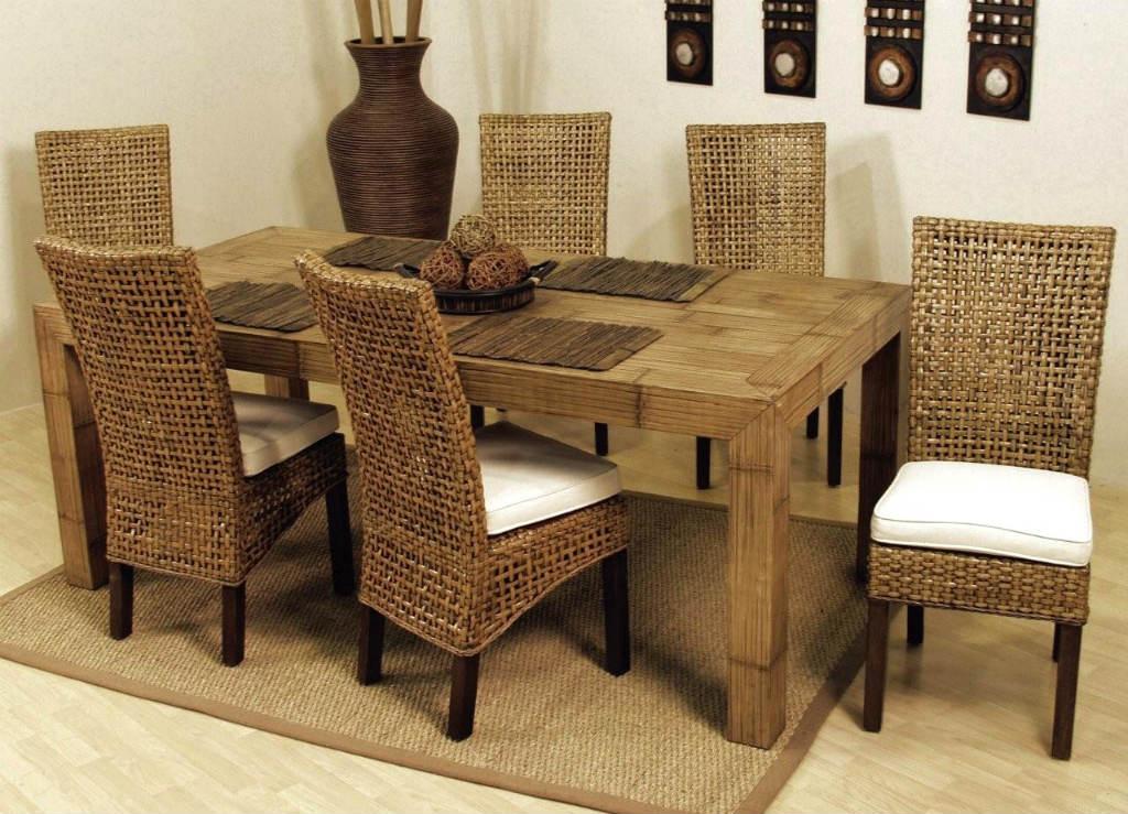 Плетеная мебель для кухни фото